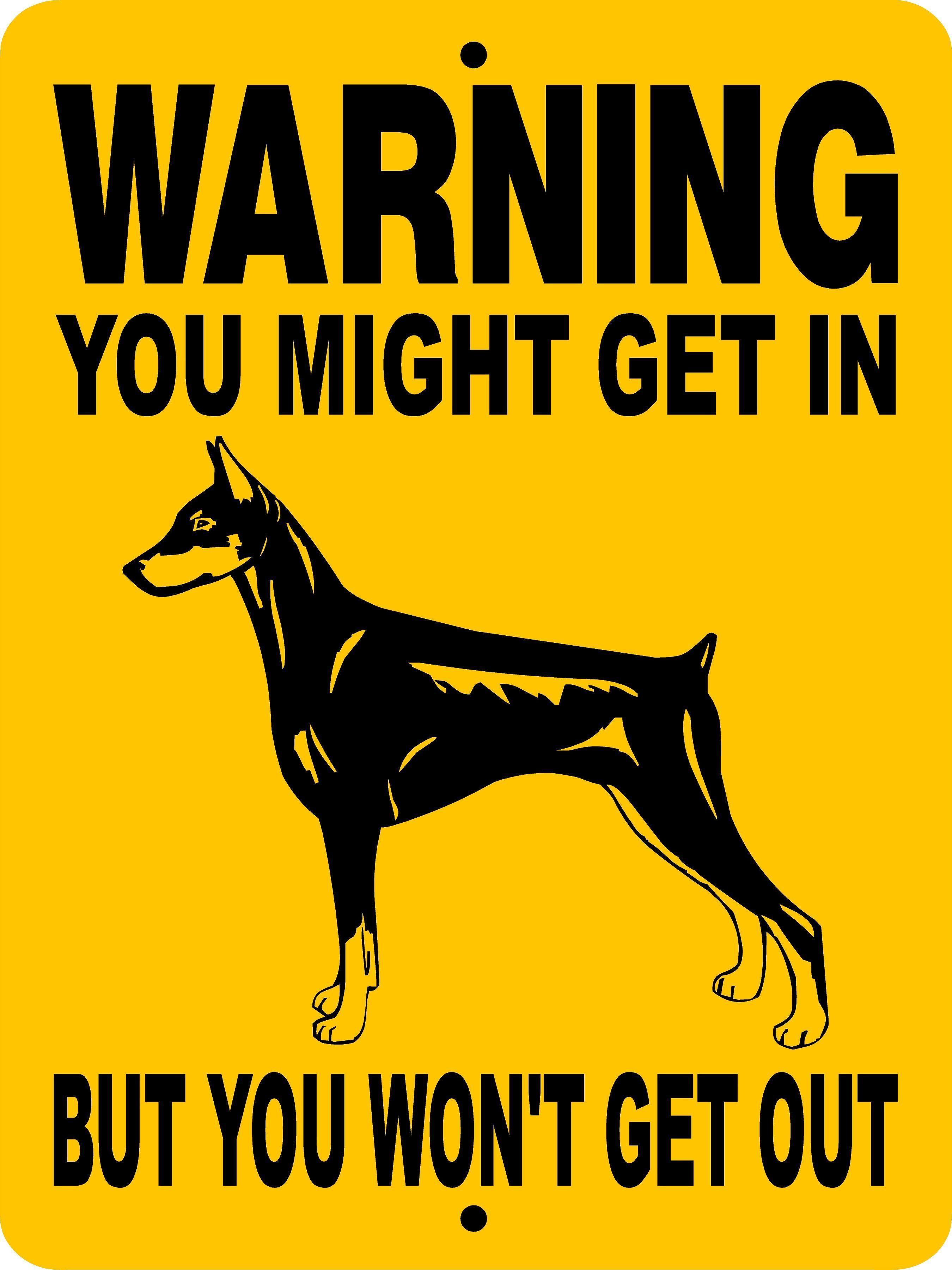 """Funny Dog Sign Caution Collie May Lick you to Death sign 5/"""" x 7/"""" SIGN magnet"""