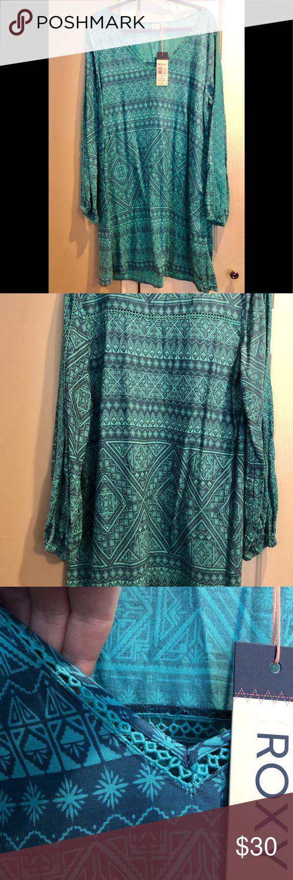 80e1011d0b NWT! Roxy April Morning Long Sleeve Dress, Size XL Adorable! Breezy shift/