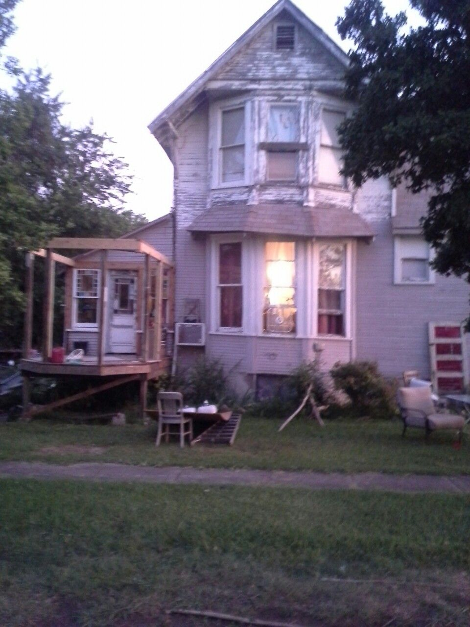 Bay Windows Eventually Eyebrow Roof Will Go And A Balcony Porch