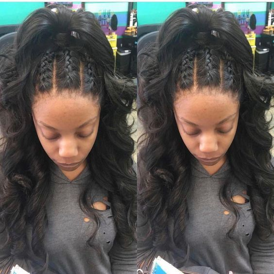 Bored With Your Natural Hair Switch It Up With A Half Wig Natural Hair Styles Hair Wig Hairstyles