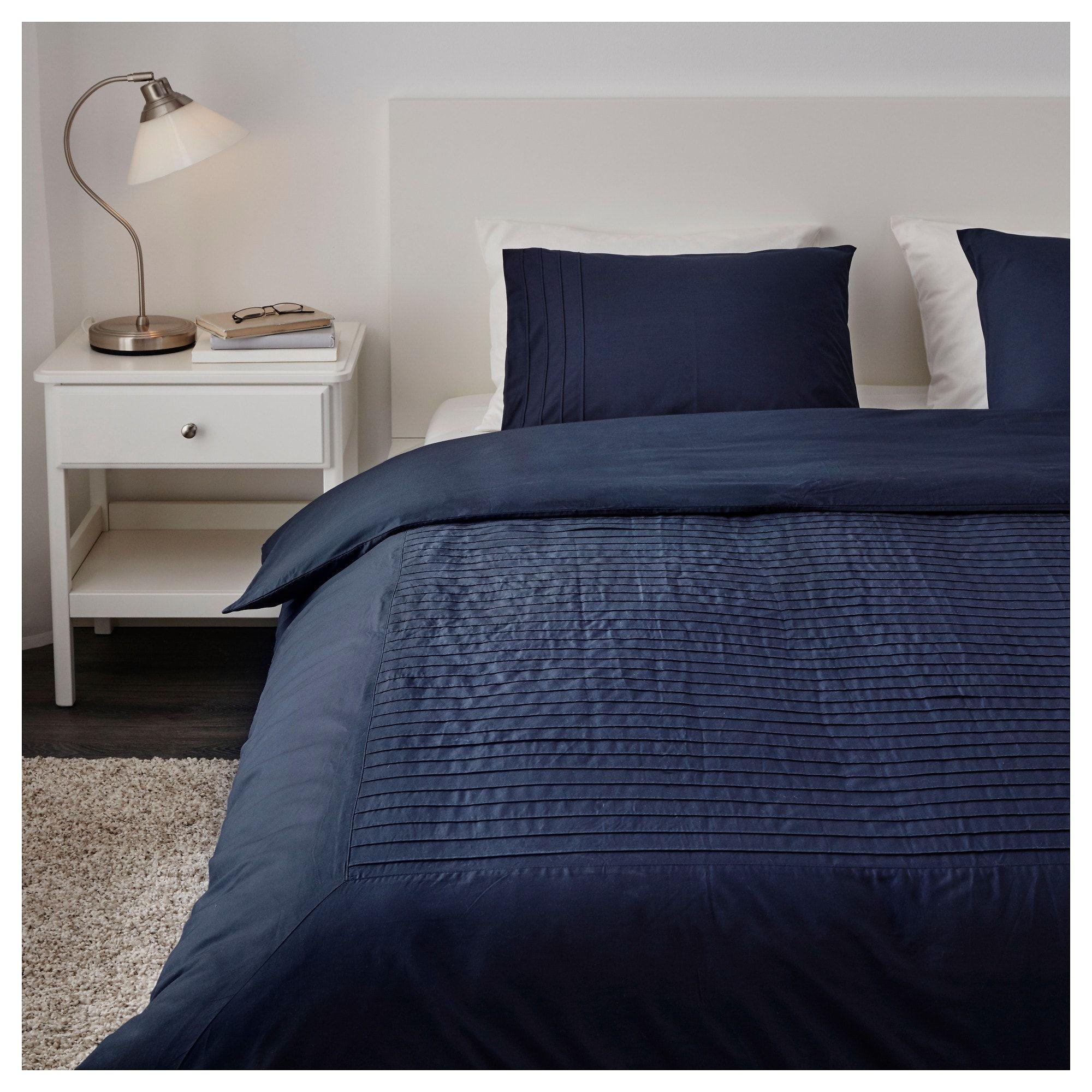 Alvine Str Quilt Cover And 2 Pillowcases Blue 200X20050X80 Cm