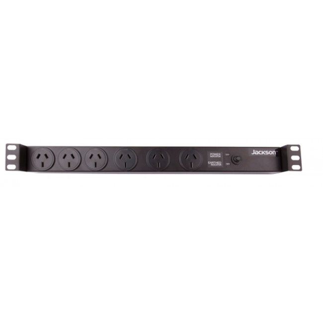 1ru 6 Outlet 19 Rack Mounted Powerboard With Surge Protection Power Board Surge Protection Jackson
