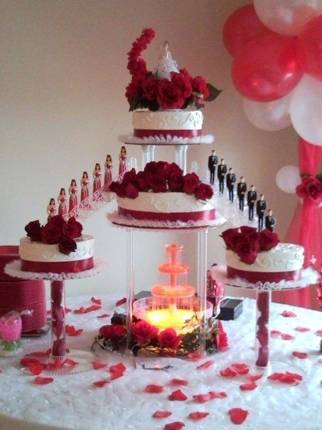 nanisetc red roses quince cake