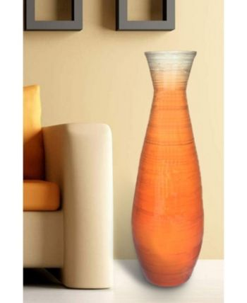 Uniquewise Bamboo Floor Vase 31 5 Tall Reviews Vases Home Decor Macy S Home Decor Vases Vase Flooring