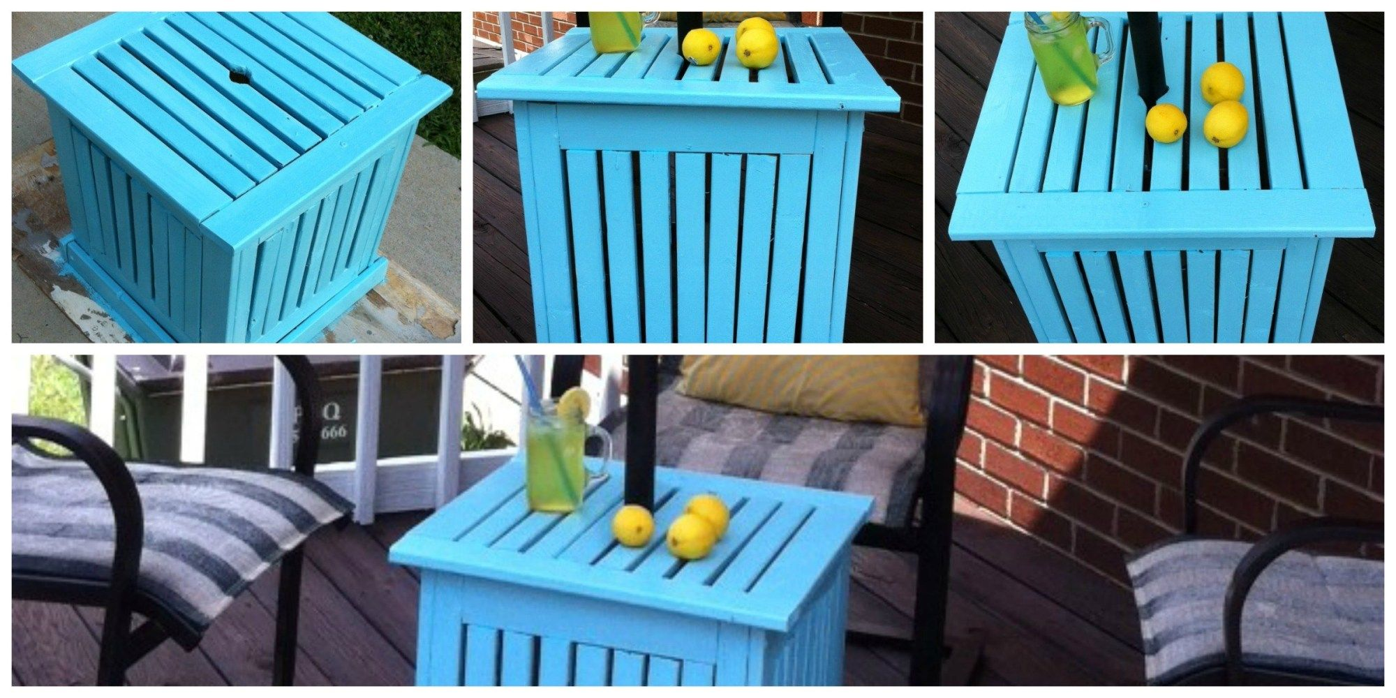 DIY Patio Umbrella Stand/Side Table - Mom in Music City