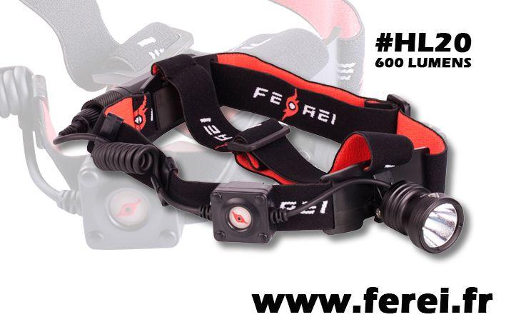 Lampe Frontale Ferei Hl20 A Pile Ou Batterie Rechargeable De 600