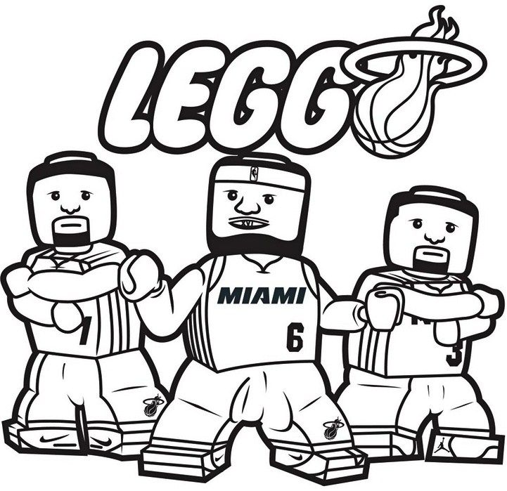 Nba Coloring Page All 30 National