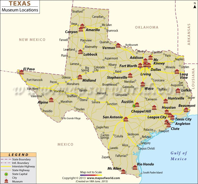 Museums In Texas Map Of The Day Pinterest Texas Museums - Us map texas cities