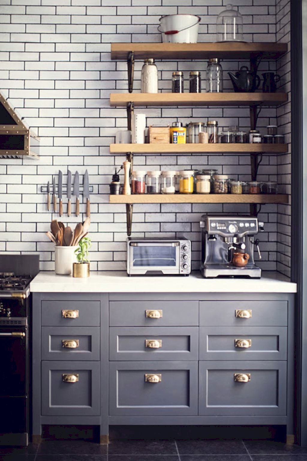 45 Gorgeous Modern Farmhouse Kitchen Backspash Ideas