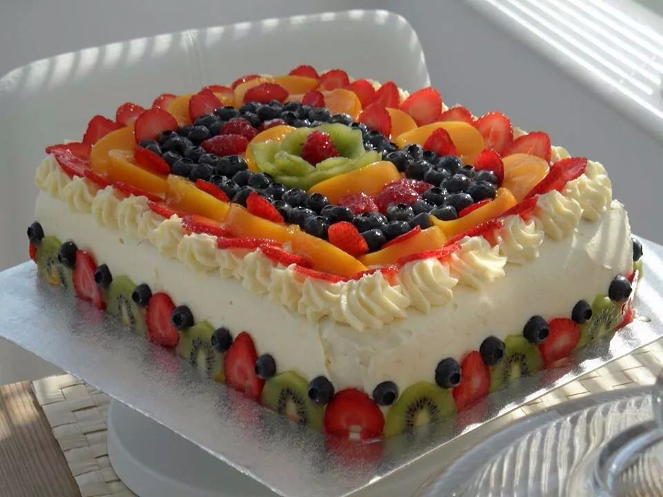 Rectangular Cake Decor Fresh Fruit Cake Tres Leches Cake Recipe