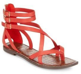 Sam Edelman Gallagher Leather Flat Sandals