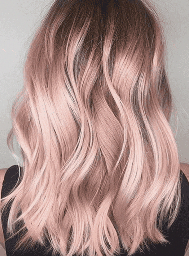 30 Best Rose Gold Hair Ideas -   13 wavy hair ideas