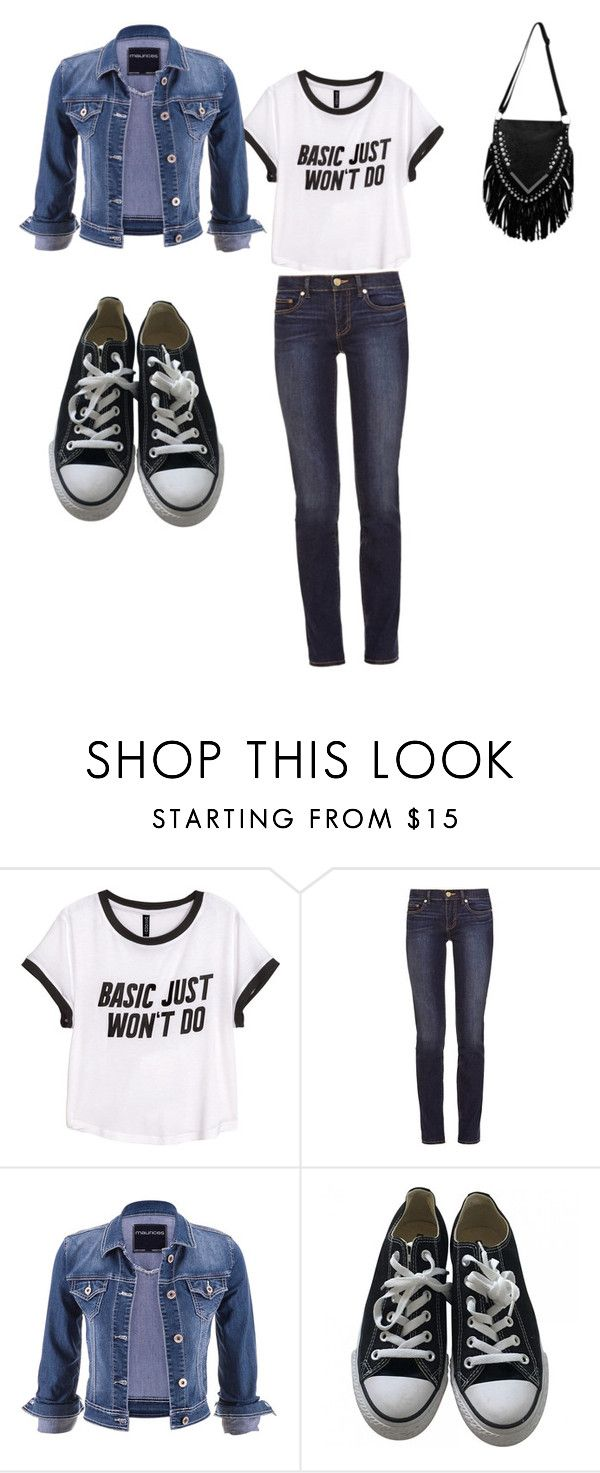 """""""Classic"""" by rhian05021 ❤ liked on Polyvore featuring H&M, Tory Burch, maurices and Converse"""