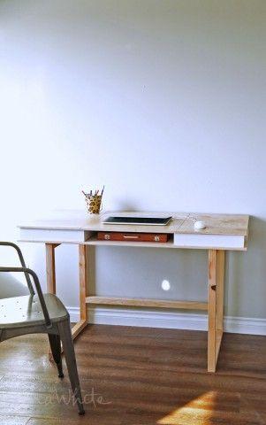 modern 2x2 desk base for build your own study desk plans school rh pinterest com