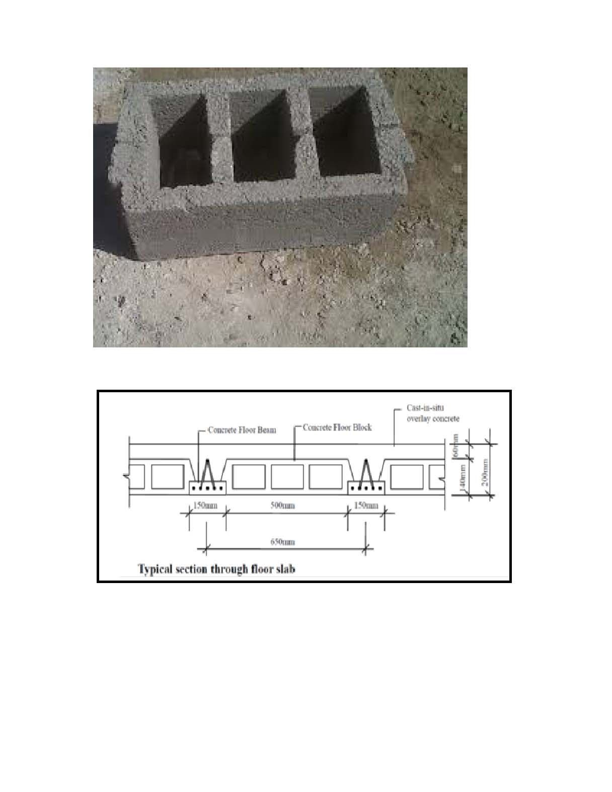 Hourdis Dimension Size Design And Drawing Hourdis Also Call Concrete Hollow Pot Block Deck Block Concrete Roof Slab It Bel House Roof Concrete Floors Roof