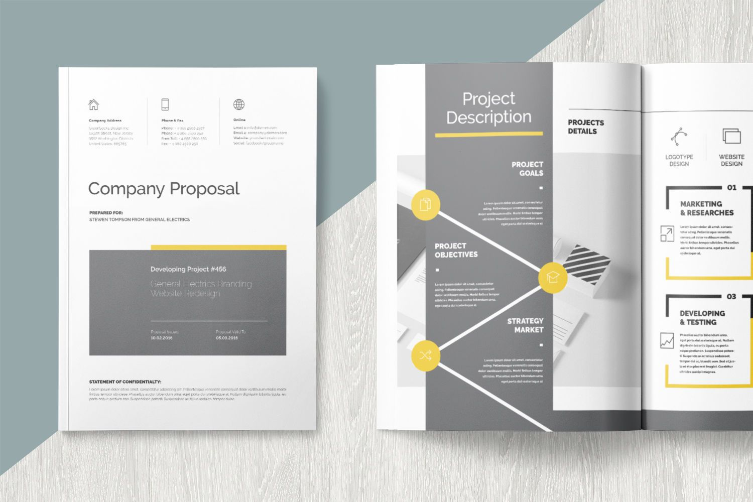 Proposal Graphic Templates by GreenSocks Proposal by