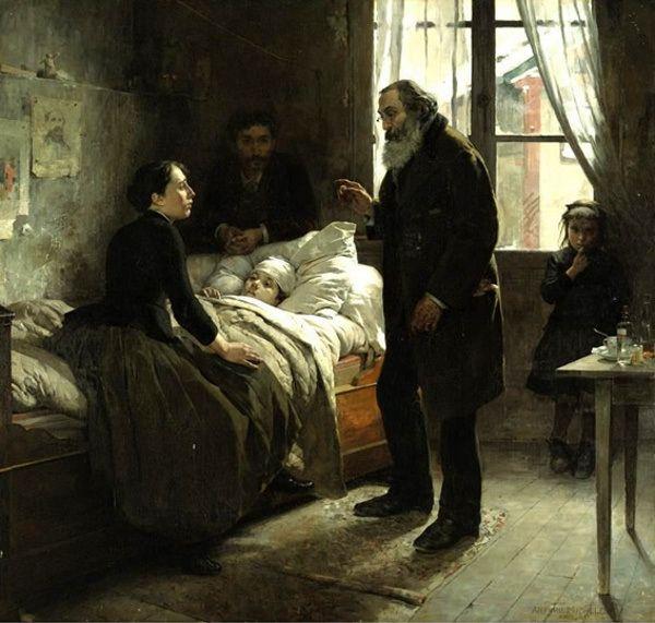 El niño enfermo (The Sick Child)- Arturo Michelena (1863 – 1898, Venezuela   Literature art, Sick kids, Art