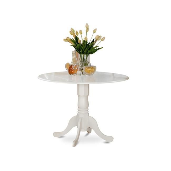 Dual Drop-Leaf Dining Table Round Solid Wood Kitchen Small ...