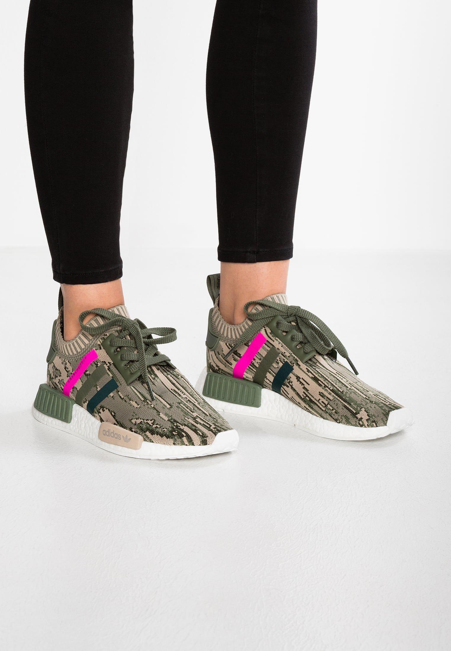 1c8a66d31 adidas Originals NMD R1 PK - Sneakers laag - st major green night shock pink