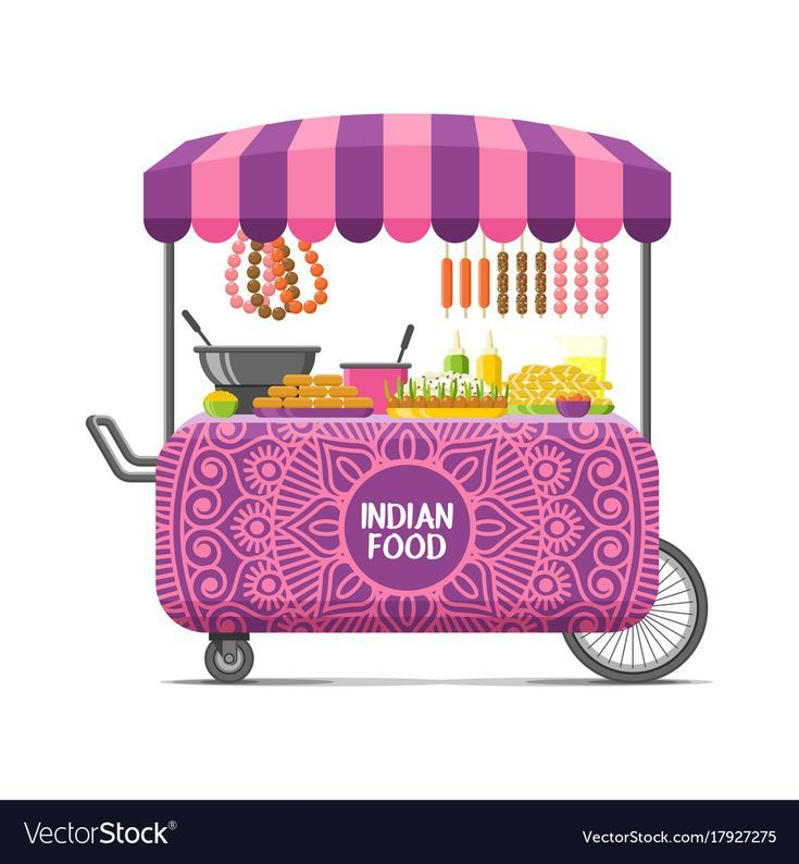 Indian street food cart colorful image Royalty Free Vector  – Quotes