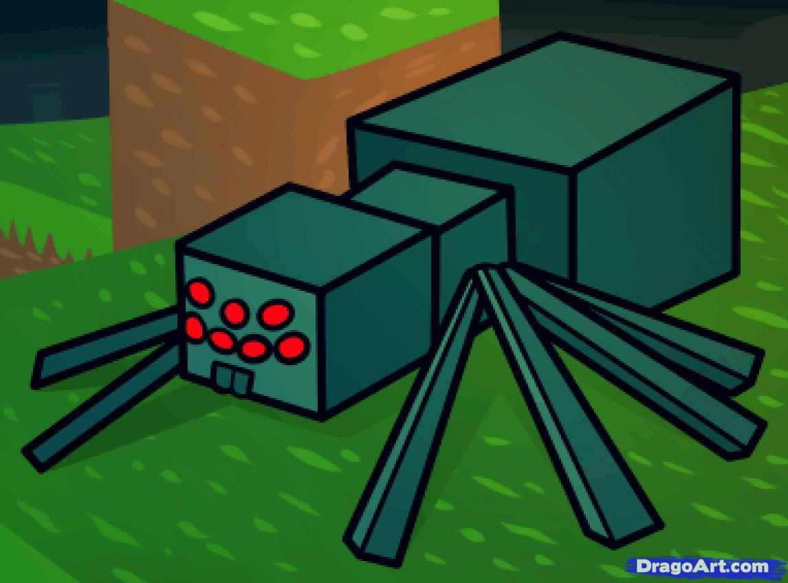 how to draw a minecraft spider, minecraft cave spider | Drawings ... for Minecraft Characters Spider  186ref