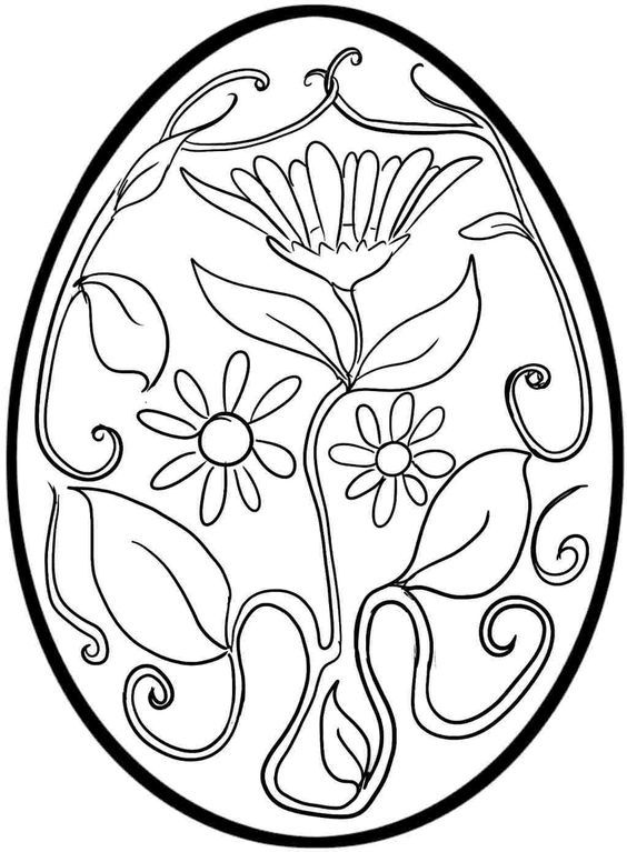 Pin By Chrissy Stewart On School Easter Egg Coloring Pages