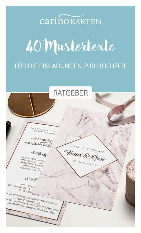 Photo of 40 Mustertexte für Hochzeitseinladungen + 9 Gestaltungstipps