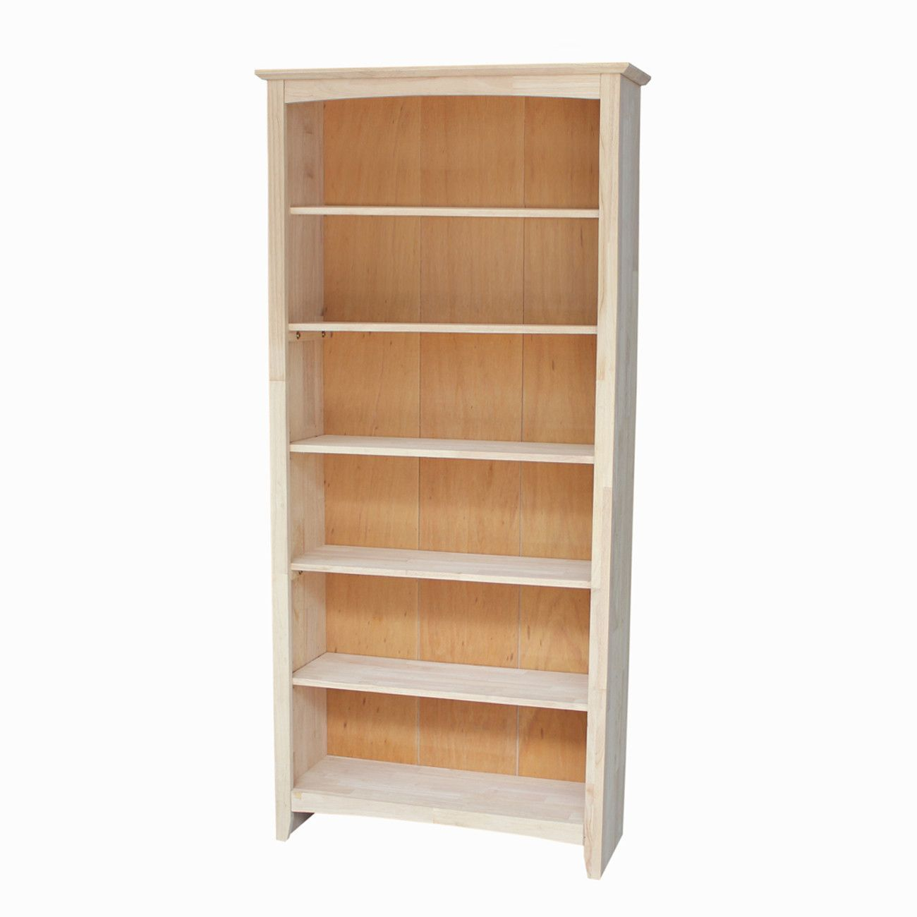Shaker Hardwood Bookcase 32 Wide X 72 Tall Finished Options