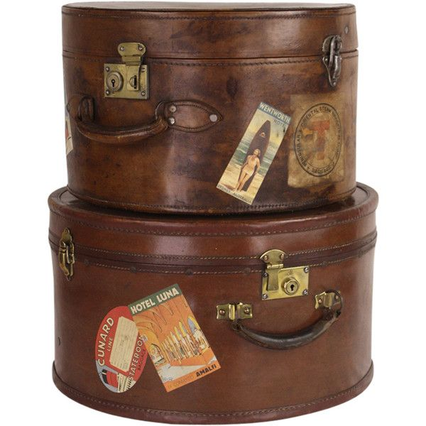 Pair Of Antique English Leather Travel Hat Boxes At 1stdibs Vintage Hat Boxes Antique Hats Hat Boxes