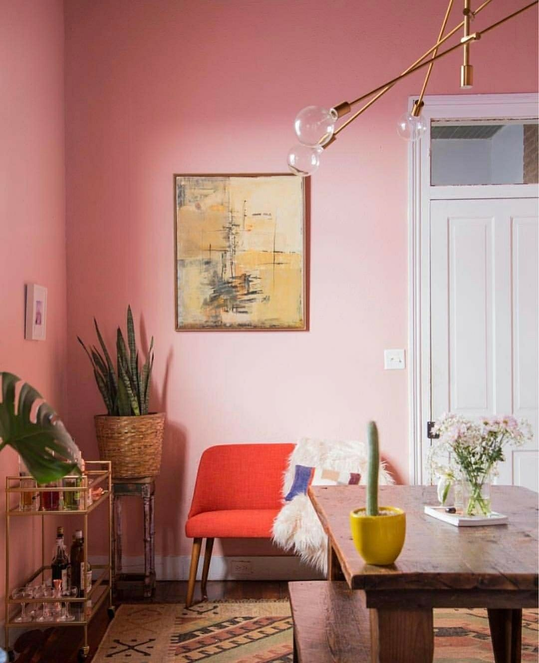 via houseofhipstersblog on insta cottage1 room pink dining rh pinterest com