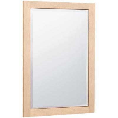 masterbath 32 in l x 20 in w wall mirror in natural maple scm2031 rh pinterest com