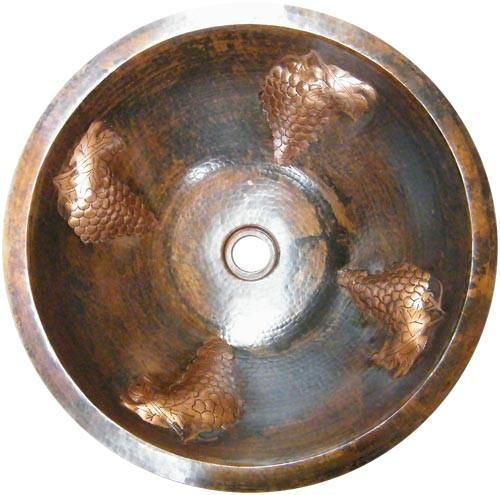 Photo of Santa Clara del Cobre Round Copper Bathroom Sink