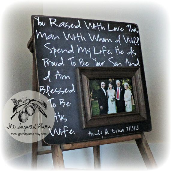 Parents Thank You Wedding Gift: Wedding Frame For Parents, Parents Thank You Gift, Thank