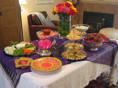 Moroccan Theme Buffet Table