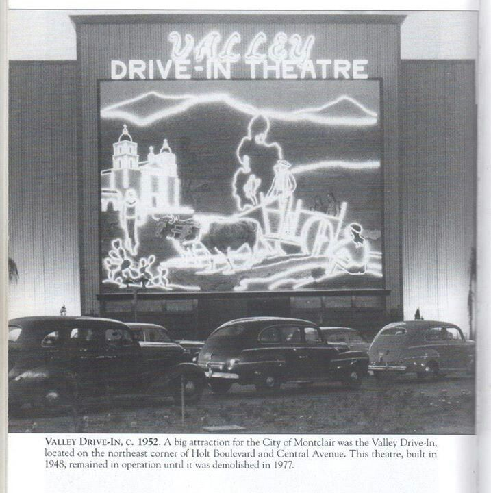 The Valley Drive In Theater From Pomona Ca Went Here Almost Every Friday As A Family I Never Could Figure Out What That Mural Was
