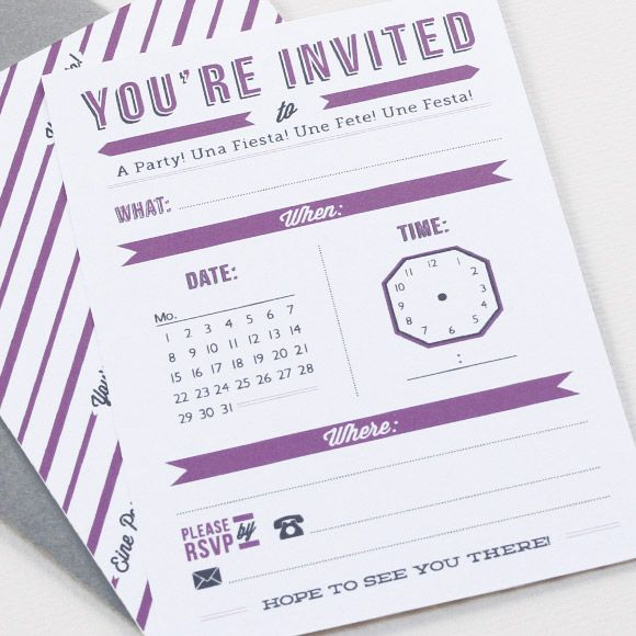 Lots Of Free Printables  Love The Time Card Invitation  Maybe