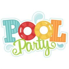 Pool party free clipart party time party layout party font party printables for Free clipart swimming pool party