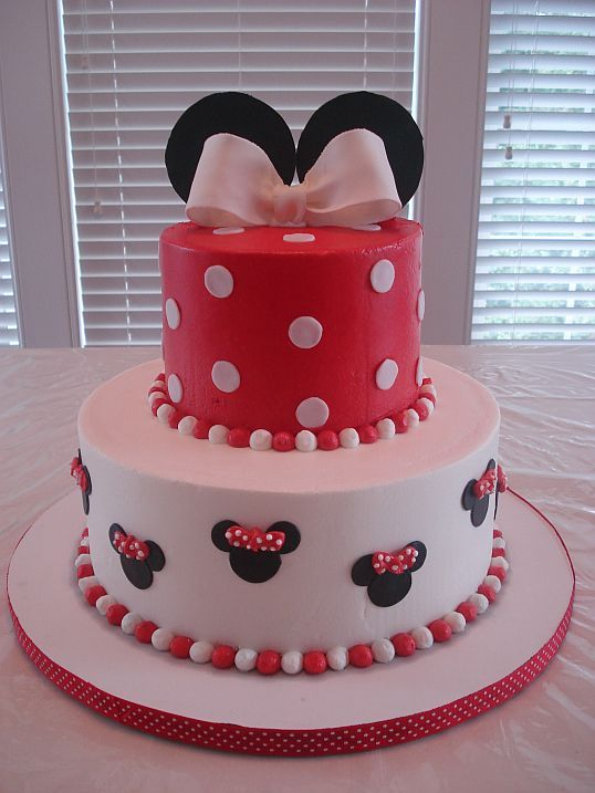 Minnie Mouse Cake A friend asked chose this design from Cc for her