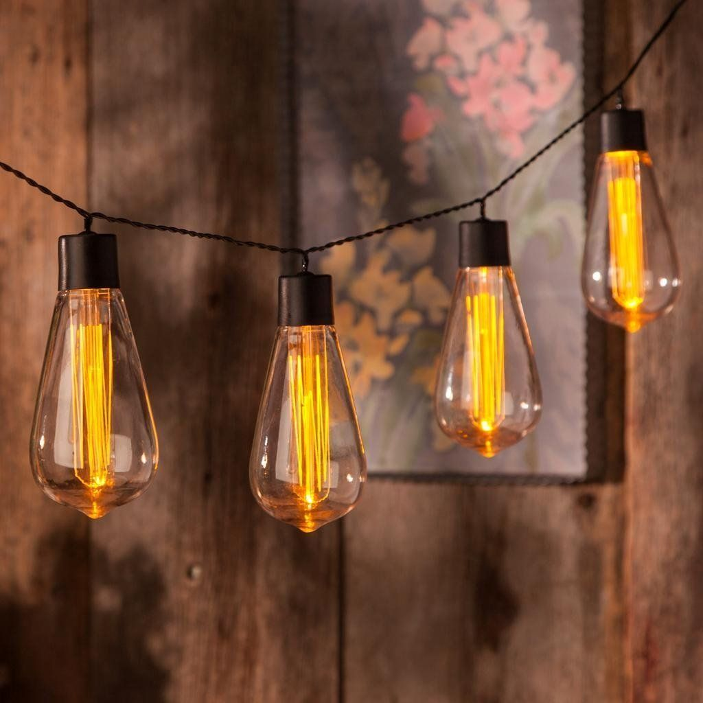 Cordless Edison Bulb Lamp: Battery Operated Vintage Edison Bulb String Lights