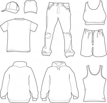 2c0b170bdd4581a7804aa12e4f870d69 free men's and women's clothing vectors tuts king graphic,Childrens Clothes Templates