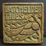 Batchelder Vintage Peacock Tile