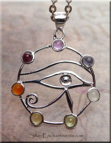Eye of horus eye of ra pendant with gemstones egyptian eye of horus eye of ra pendant with gemstones egyptian aloadofball Images