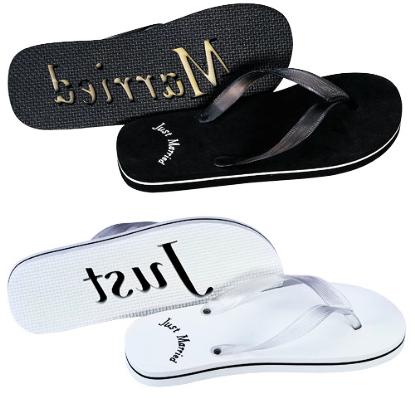a33e438626d83 Honeymoon Sandals - Newlywed Flip Flops - Just Married Flip Flops  10.95