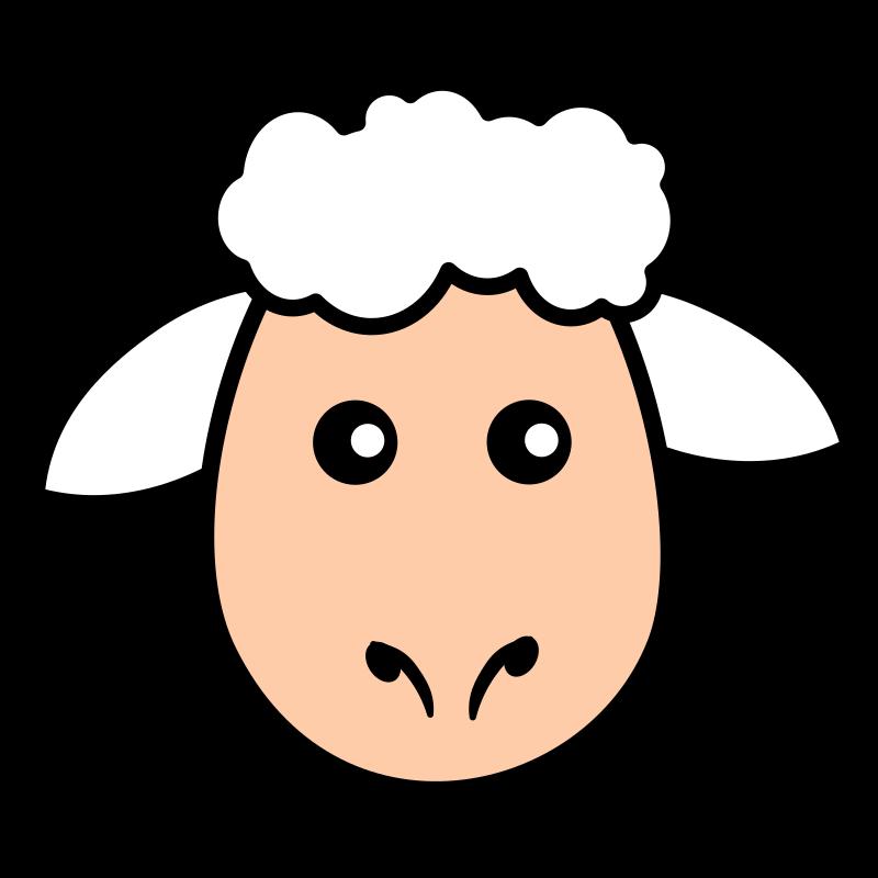 Sheep Face Sheep Template Sheep Gift