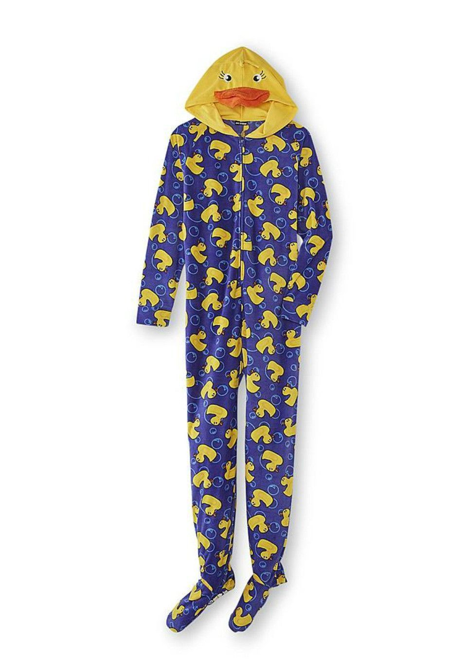 b0bc1fc7a Rubber Duck Womens One-Piece Footie Pajamas