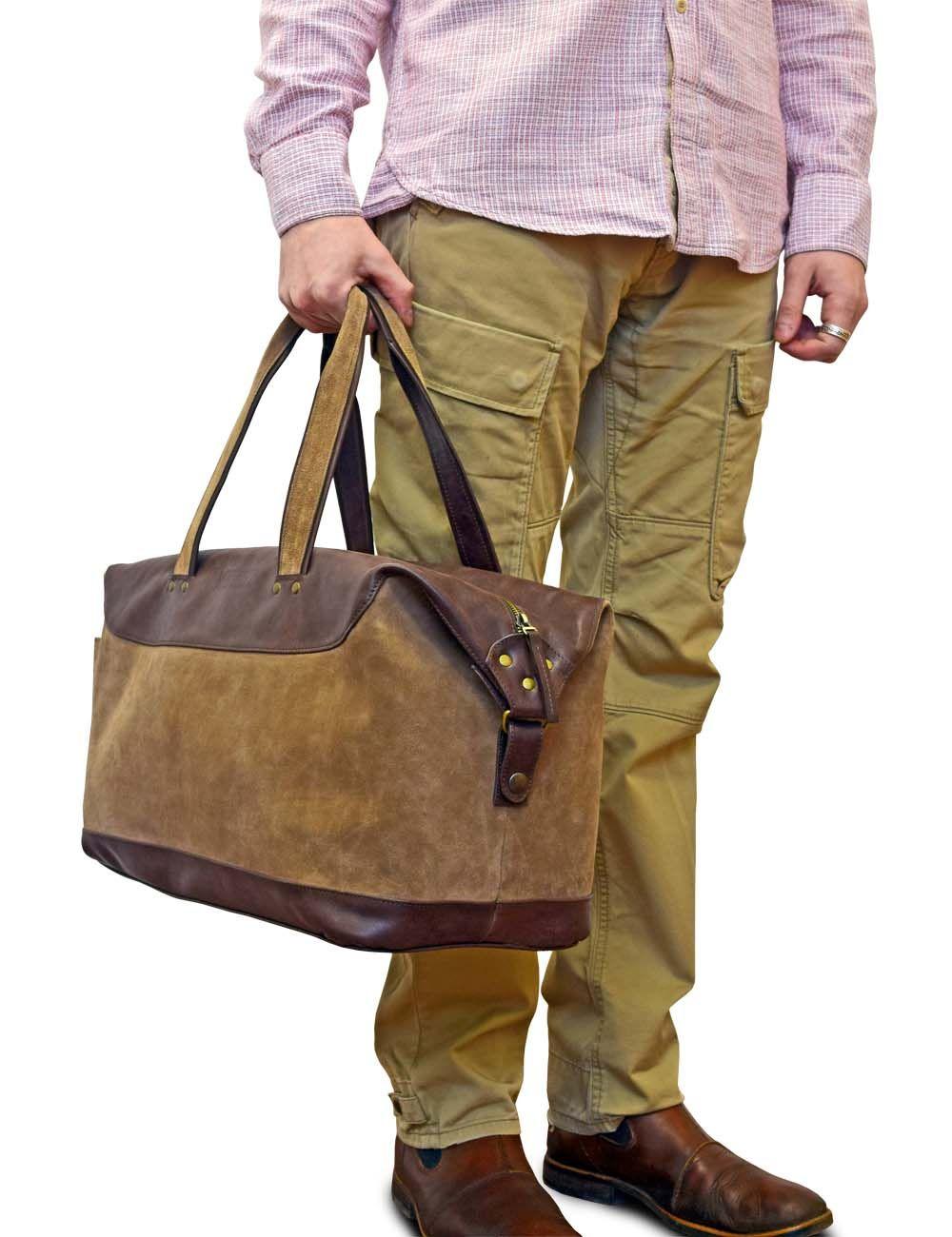 fa7d73d7c6e7 Дорожная сумка из натуральной кожи и замши средних размеров. МАТЕРИАЛ   Натуральная кожа, натуральный