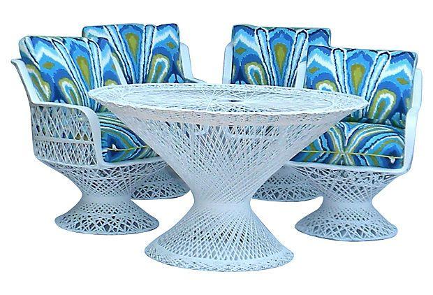 Spun Fiberglass Patio Table & 4 Chairs $2,999