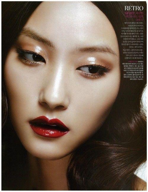 Hair Makeup Golden Eye Red Lips Exxomakeup Asian Makeup