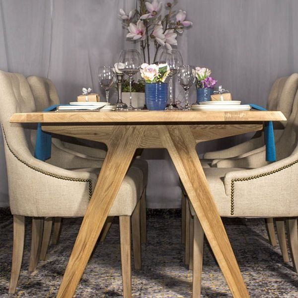 Allegro Live Edge Oak Dining Table Dining Table Oak Dining