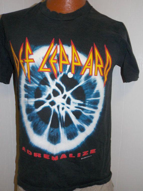 c8552fea14d VINTAGE 1993 Def Leppard ADRENALIZE Concert by PfantasticPfindsToo Tour T  Shirts